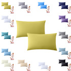 5* 400 TC 100% EGYPTIAN COTTON HOUSEWIFE / OXFORD PILLOW CASES PACK OF 2 image