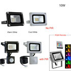 LED Floodlight PIR 10/20/30/50/100W Motion Sensor Outdoor Flood Lights Warm Cool