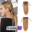 """15~24"""" String Clip-in High Ponytail 100% Remy Human Hair Extension 80g Any Color"""
