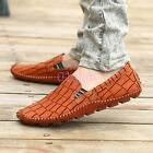 Mens Flats Loafers Slip on Faux Leather Moccasins Gommino Boat Shoes Hot 2017