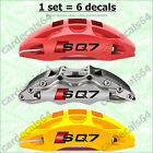 6 X Audi SQ7 Brake Caliper Wheel Door Handle Decal Sticker Emblem Logo Vinyl  A