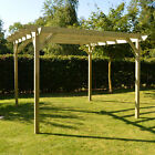 Wooden Garden Pergola - Light Green - In Three Sizes