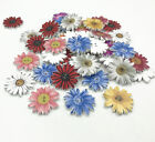 Flowers Wooden Buttons Fit Sewing Scrapbooking decoration Mix color 26mm