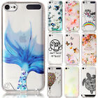Soft Patterned Case Ultra Slim TPU Clear Back Silicone Cover For iPod Touch 5/6