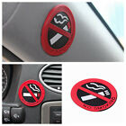 10* Rubber No Smoking Sign 3d Stickers Car Home Public Place Decal Badge Glue