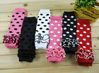 Brand New Baby Girls Dots & Laces Leggings Leg Warmers Multiple Colours