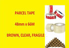Packing Parcel Packaging Brown Clear Fragile Rolls Tape  72 x 66m