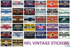 NFL LICENSED FOOTBALL VINTAGE TEAM LOGO INDOOR STICKER LAPTOP CELL PHONE U PICK $1.25 USD on eBay
