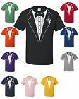 Tuxedo T-shirt Funny Wedding Prom Bachelor Party Tee Shirt Groom Gift Costume