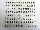 10mm Sticky Letters Numbers Stickers, Adhesive Labels, Black on Silver Plastic