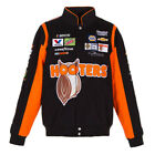 Chase Elliott Hooters Mens Black Cotton Twill Nascar Jacket by JH Design-7