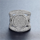 Gorgeous 925 Silver Jewelry Round Cut White Sapphire Wedding Ring Size 6-10
