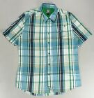 Volcom Short Sleeve Check Shirt Blue size S,L.