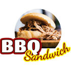 BBQ SANDWICH  Concession Decal sign cart trailer stand st...