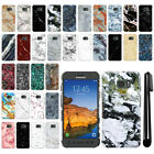 For Samsung Galaxy S7 Active G891 Marble Design HARD Back Case Phone Cover + Pen