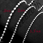 Ball Chain Necklace 1.5mm, 2mm, 3mm 50cm - 90cm Long Short Thick Thin Ballchain