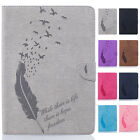 Luxury Feather Pattern Leather Folio Stand Protector Case For iPad Mini 1 2 3 4