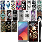 For LG G6 H873 US997 VS998 AS993 Butterfly Design HARD Back Case Cover + Pen