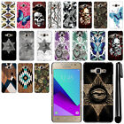 For Samsung Galaxy J2 Prime G532 Butterfly Design HARD Back Case Cover + Pen