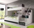 ALTA BUNK BED, CHILDREN'S KIDS HIGH SLEEPER**MODERN BEDROOM**BONNELL MATTRESS