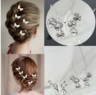 Butterfly crystal Diamante Wedding Bridemades  Bridal Hair Pin Clips grips