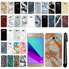 For Samsung Galaxy J2 Prime 2016 G532 Marble Design HARD Back Case Cover + Pen