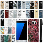 For Samsung Galaxy S7 Edge G935 Marble Design HARD Back Case Phone Cover + Pen