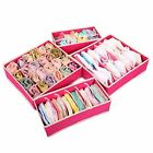 4 pcs/Set Foldable Divider Storage Bra Box Non-woven Fabric Folding Cases
