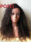 Kinky Curly 180% Density 360 Lace Frontal Wigs Pre Plucked Brazilian Human Hair