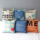 "17"" New Square Sweet Love Lover Decor Home Sofa Throw Pillow Case Cushion Cover"