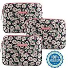 Juicy Couture Rose Flower iPad Tablet Protective Padded Sleeve Pouch