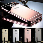 New Luxury Aluminum Bumper Ultrathin Mirror Phone Case Cover for Samsung Galaxy