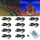 10-50pack RGB Colorful Waterproof Outdoor Garden Stairs LED Deck Light Step Lamp