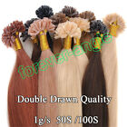 Double Drawn Thick Remy Human Hair Extensions Pre-Bonded Nail U Tip Hair 1gram/s