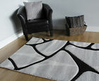 New Modern Grey Non Shed Geormetric Rugs Small Large Soft Thick Living Room Rugs