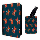 Foxes Cute Red Pattern Luggage Tag & Passport Holder - S958