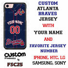 Atlanta Braves Blue Baseball Jersey Phone Customized for LG HTC Motorola etc