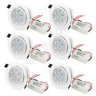 6 x 7w LED Round Ceiling Light Recessed Downlight High Power White Lamp