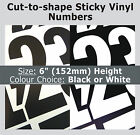 """21 x Sticky Numbers 6"""" , Self-Adhesive Labels , Plastic Vinyl Numbering Stickers"""
