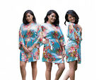 Floral Silk Bridesmaid Robes gowns wedding parties kimono Bride maternity robes! <br/> Matching PLUS SIZE and KIDS size available