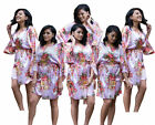 Floral Silk Bridesmaid Robes gowns wedding parties kimono Bride maternity robes!