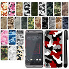 For HTC Desire 530 630 Camo Design HARD Back Case Phone Cover + Pen