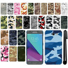 For Samsung Galaxy J3 Emerge J327 2nd Gen Camo Design HARD Back Case Cover + Pen