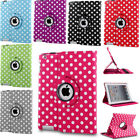 Rotating Polka Leather PU Stand Protector Case Cover For iPad 2/3/4 Ari Pro 12.9