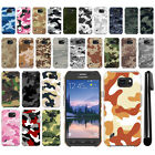 For Samsung Galaxy S6 Active G890 Camo Design HARD Back Case Phone Cover + Pen
