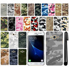 For Samsung Galaxy J3 Pro J3110 2017 Camo Design HARD Back Case Cover + Pen