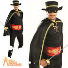Mens Senor Bandit Costume Mexican Spanish Musketeer Fancy Dress Outfit