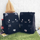Fashion Cute Cat Canvas Backpack Printing Rucksack Mochilas College Style Bag