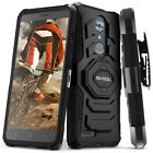 ZTE MAX XL Case, Evocel Rugged Dual Layer Holster Case w/ Kickstand & Clip