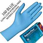 500 Blue Nitrile Long Arm Gloves Disposable Household Medical Lab